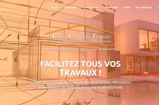 Site internet Ariège Courtage Travaux